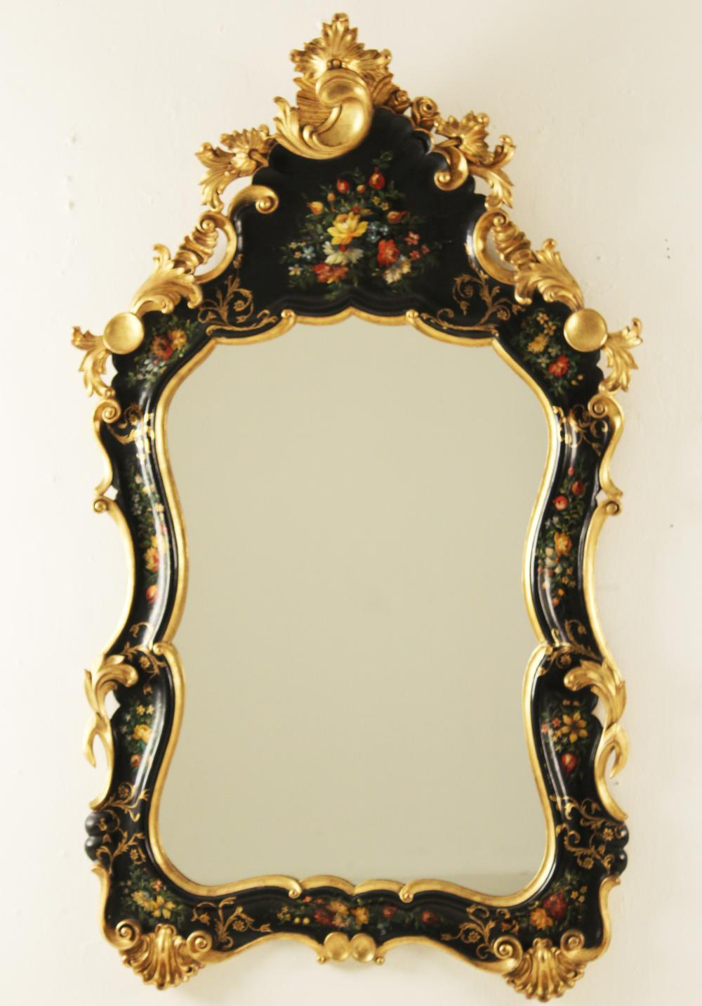Lot 196: POLYCHROME VENETIAN STYLE MIRROR