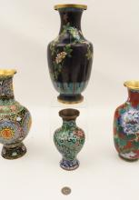 Lot 247: 8 PCS. OF CLOISONNE