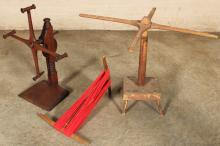 Lot 239: EARLY AMERICAN SEWING RELATED ITEMS