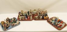 Lot 338: 4 MISC. TRAY LOTS OF COLLECTIBLE FIGURES
