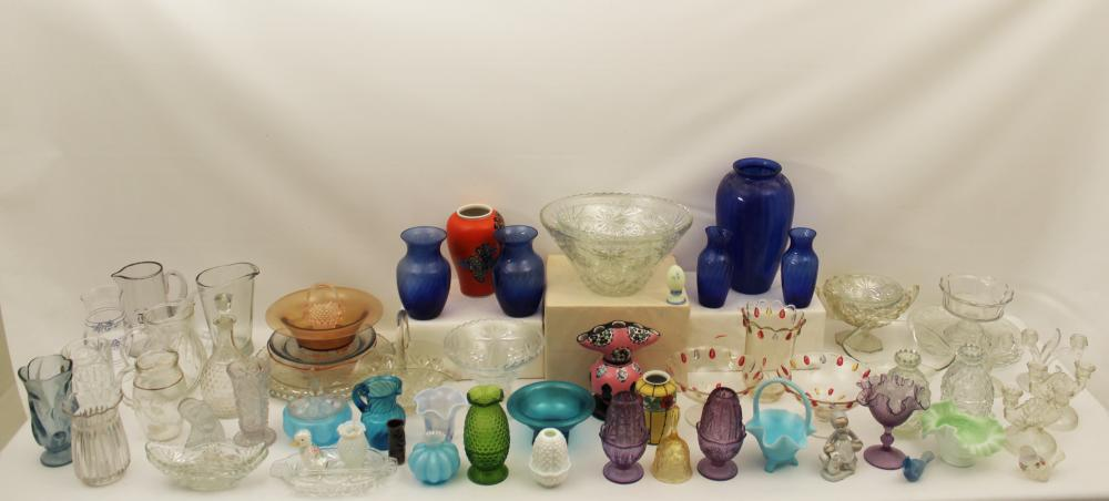 Lot 337: 73 PC. TABLE LOT OF GLASS