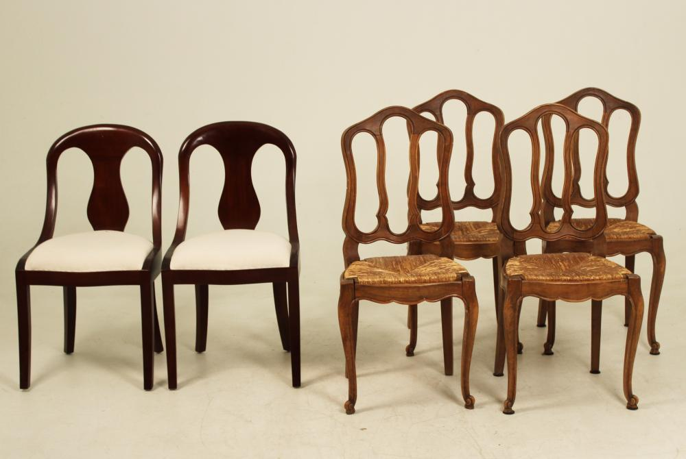 Lot 333: 6 MISCELLANEOUS CHAIRS