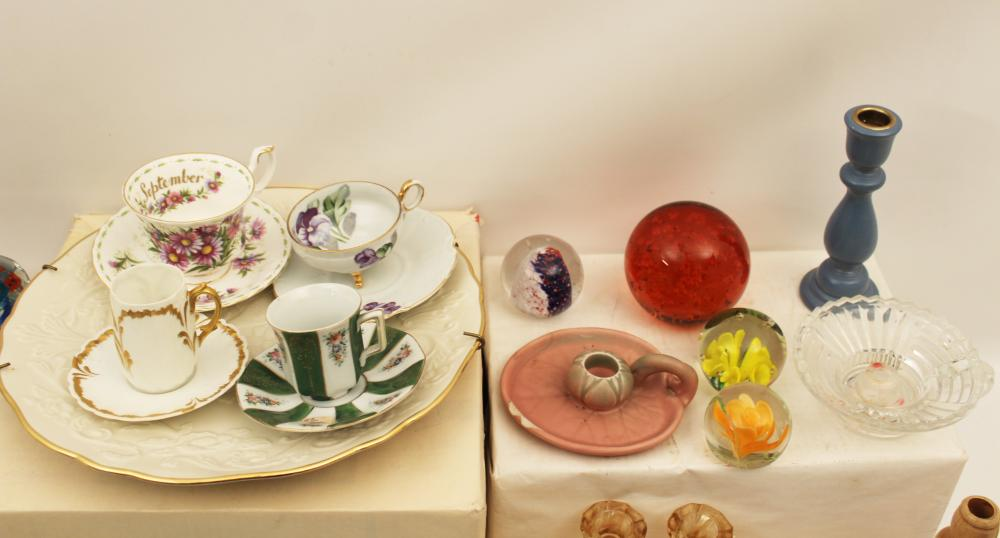 Lot 315: 60 PC. MISC. LOT OF GLASS AND CHINA
