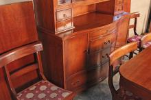 Lot 308: 10 PC. CHERRY DINING ROOM SUITE