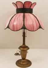 Lot 283: 3 ART GLASS LAMPS