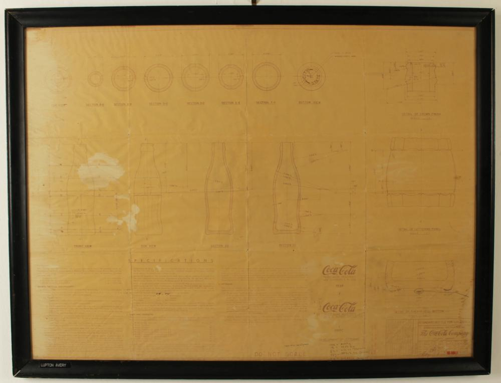 Lot 357: 1944 COCA COLA SPECIFICATION SHEET