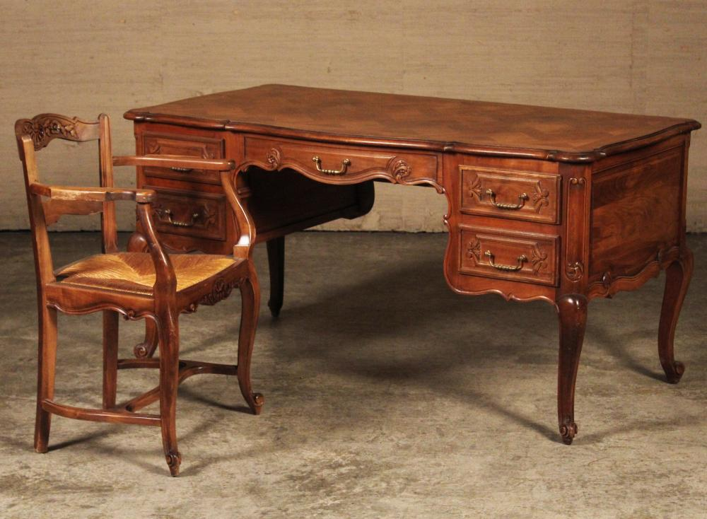 Lot 253: LOUIS XV STYLE DESK AND CHAIR