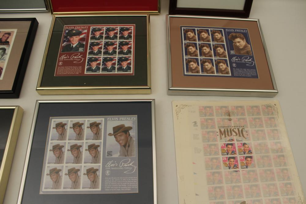 Lot 416: ELVIS PRESLEY STAMP COLLECTION AND POSTERS