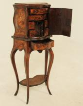 Lot 32: MARQUETRY CABINET ON STAND