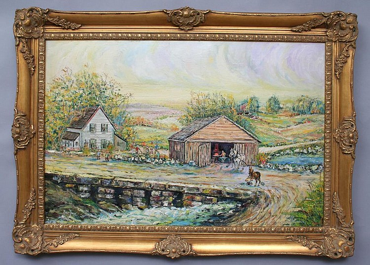 Isadore Firestone Smithy Oil Painting