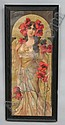 Mary Golay Art Nouveau Poppy Panel or Poster, Mary Speich, Click for value