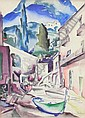 William Eastman Cleveland School Capri Watercolor, William Joseph Eastman, Click for value