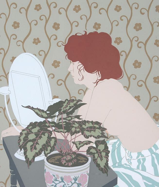 Phyllis Sloane Redhead Serigraph Print