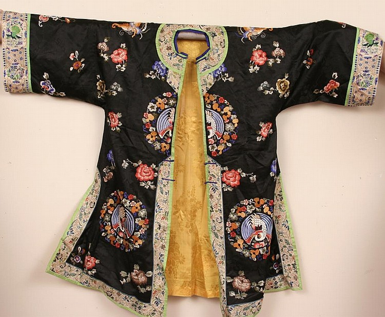 Antique Chinese Embroidered Silk Costume