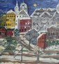 Anna Fell Rothstein City Scape Painting