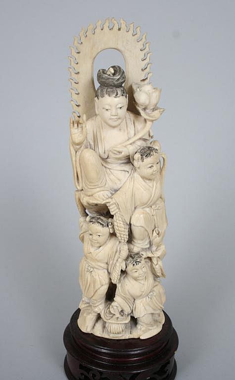 Vintage Asian Bone Figural Carving