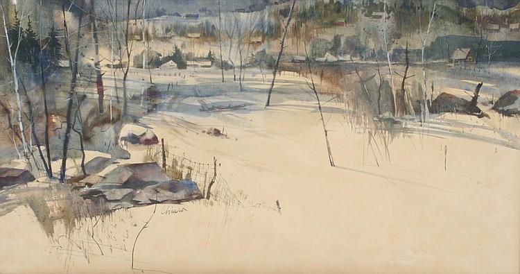 Alan Chiara Winter Landscape Painting