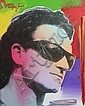 Peter Max Mixed Media Painting of Bono on Canvas