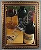 T. Stevenson Acrylic Painting of Wine Bottles