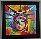 Peter Max Liberty Head Painting on Canvas