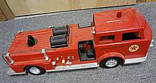 13. Antique Metal Fire Engine Truck