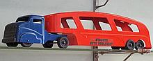 15. Blue & Red Metal Toy Car Carrier Toy