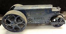 16. Antique Metal Roller / Diesel Tractor Toy