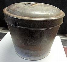 22. Early Tin Bread Mold with Lid