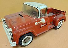 48A. Buddy L Red & White Metal Pickup Truck