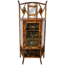 19th Century English Lacquer Bamboo Cabinet