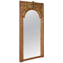 Superb Italian 19th Century Faux Painted Mirror