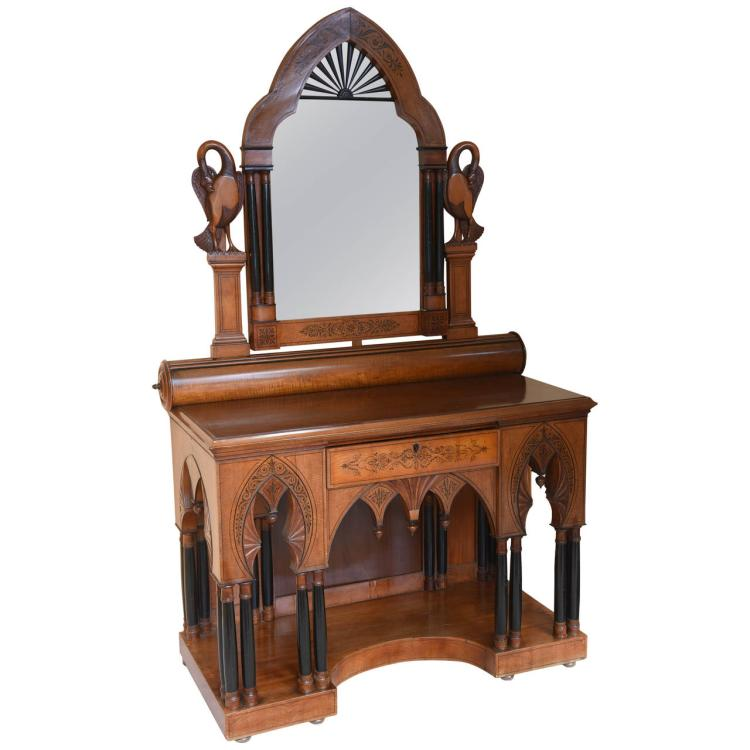 Superb 19th Century Moorish Side Vanity Cabinet