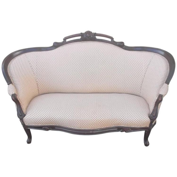 1900s Mahogany Upholstered Settee