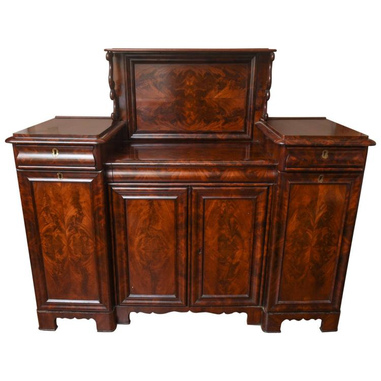 19th Century French Mahogany Sideboard and Secretaire