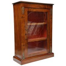 19th Century English Walnut Display Cabinet
