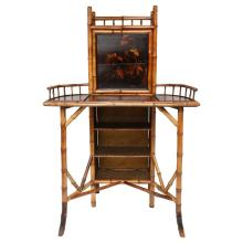 19th Century English Bamboo Drop Front Writing Desk