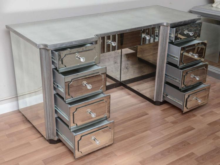 Mirrored Dressing Table Or Vanity With Nine Drawers