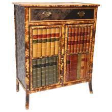 19th Century English Bamboo with Faux Front Cabinet