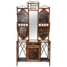 Rare 19th Century English Bamboo Hall Stand