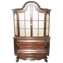 Superb 19th Century Dutch Marquetry Bookcase