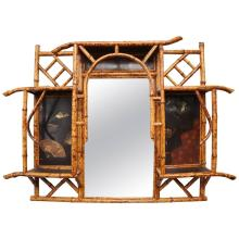 19th Century English Bamboo Mirror