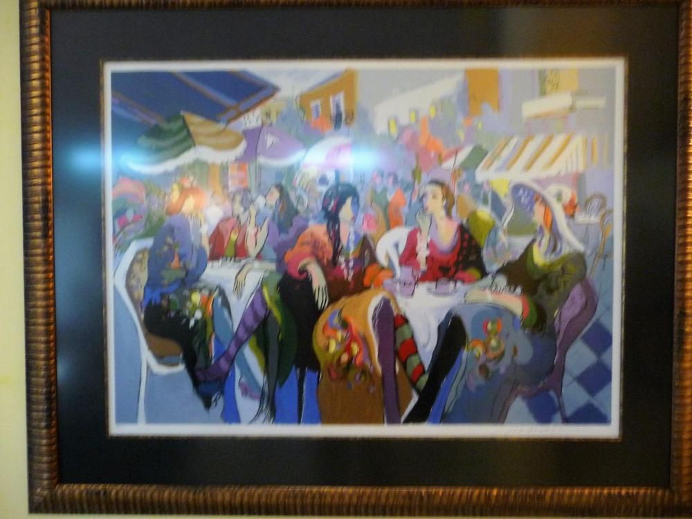 ISAAC MAIMON LIMITED EDITION SERIGRAPH SILKSCREEN, MOUNTED AND FRAMED