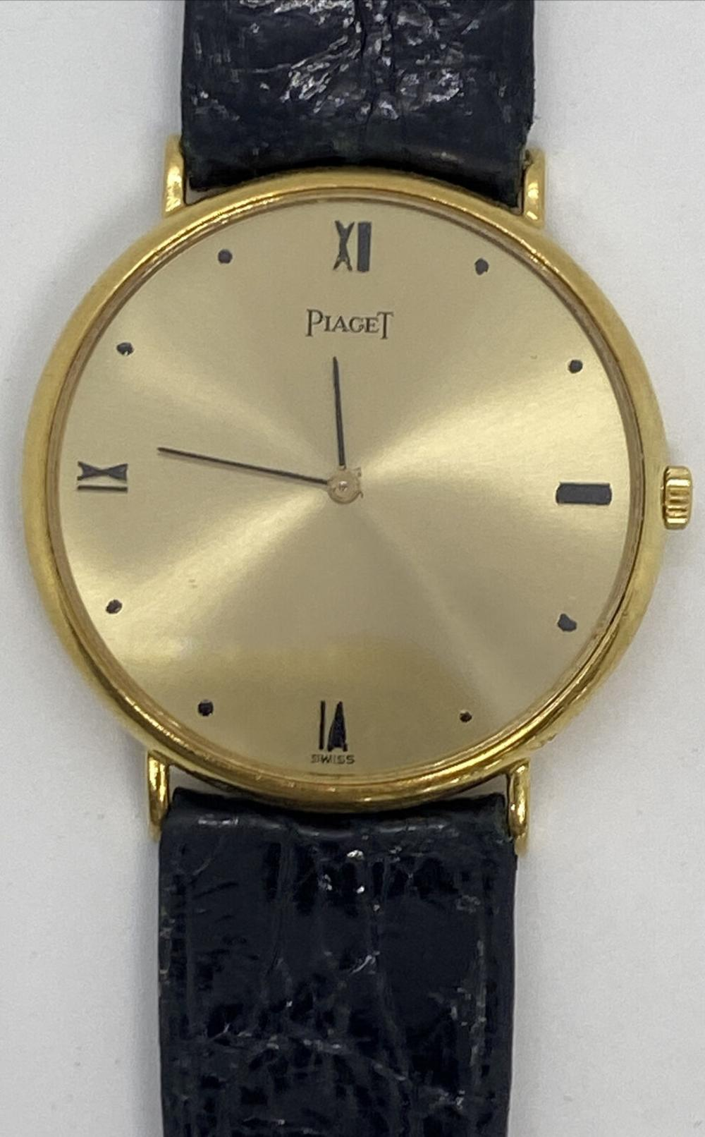 PIAGET SOLID 18K WATCH W/ BOX & PAPERS