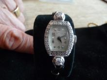 .65 CARAT DIAMOND PLATINUM HAMILTON LADIES WATCH