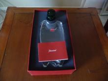 BACCARAT OCEANIE CRYSTAL VASE ,CLEAR BASE ,GREEN STOPPER, NEW IN BOX