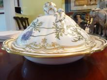 SPODE STAFFORD FLOWERS ROUND COVERED  VEGETABLE BOWL