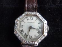 TIFFANY & CO BY AGASSIZ 18K DIAMOND WATCH