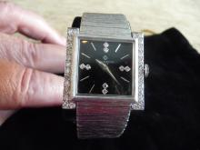 MAN BAUME & MERCIER  14K DIAMOND BRACELET WATCH