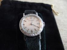 LONGINES DIAMOND 14K WATCH W/ ORIGINAL BOX