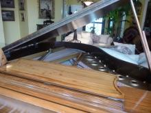 WISSNER ANTIQUE BABY GRAND PIANO W/ BENCH